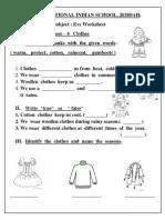 Evs worksheet class  lesson also hindi worksheets rh scribd