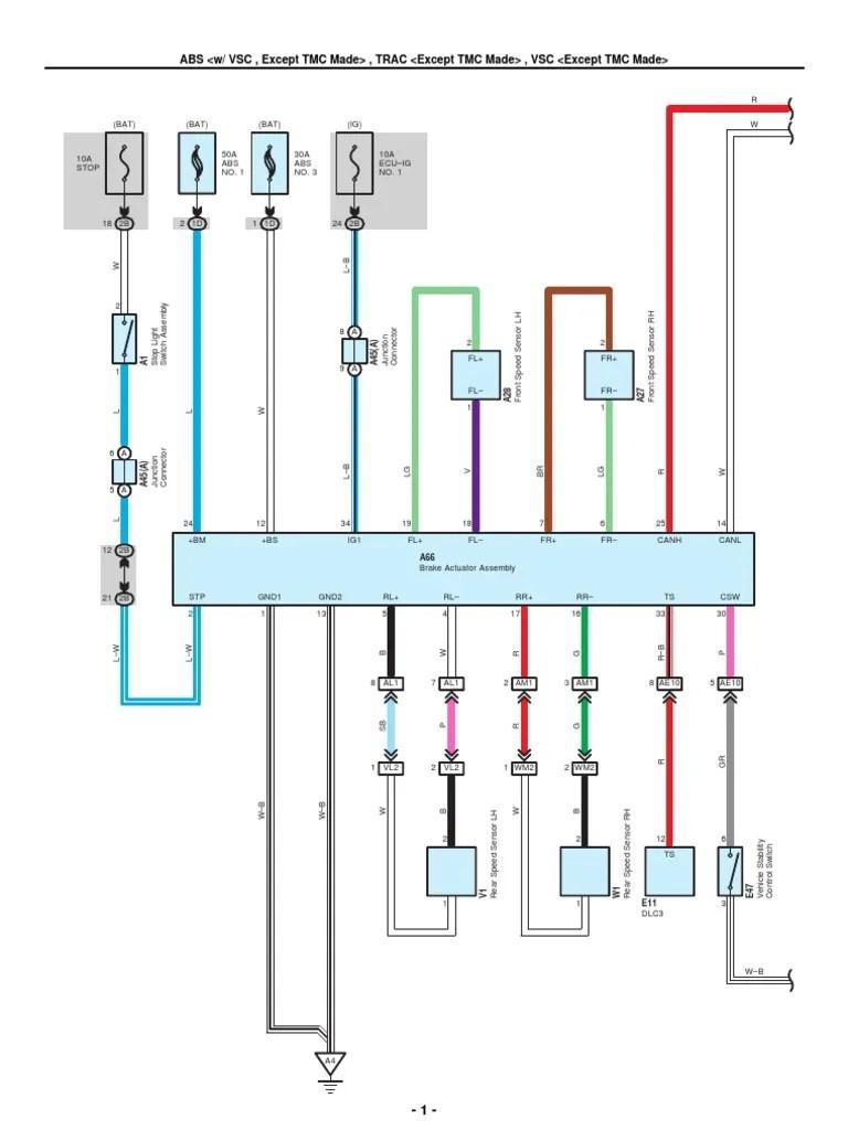 hight resolution of 2009 2010 toyota corolla electrical wiring diagrams anti lock braking system microphone