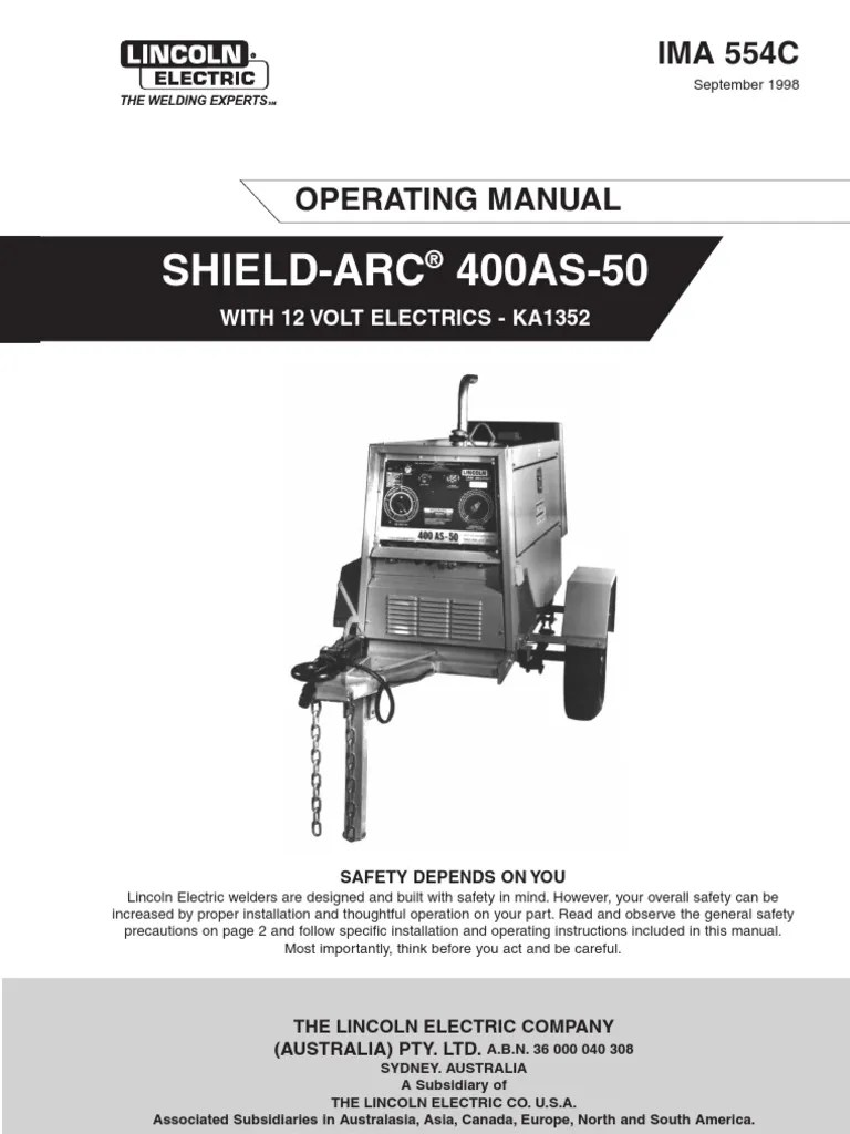 medium resolution of 400as 50 welding internal combustion engine lincoln 400as wiring diagram
