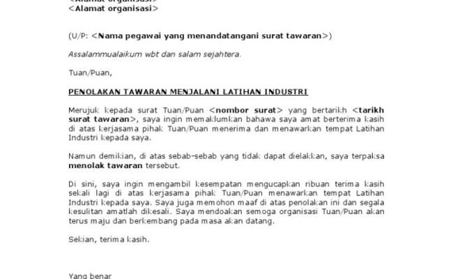 Contoh Email Menerima Tawaran Kerja Contoh Two