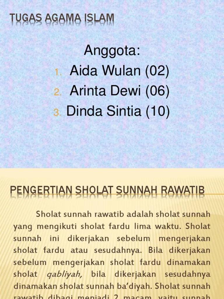 Apa Itu Sholat Rawatib : sholat, rawatib, Sholat, Sunnah, Rawatib