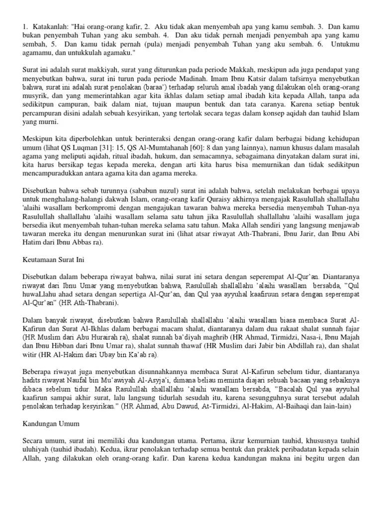 Isi Kandungan Surah Al Bayyinah : kandungan, surah, bayyinah, Kandungan, Surah, Kafirun, IlmuSosial.id