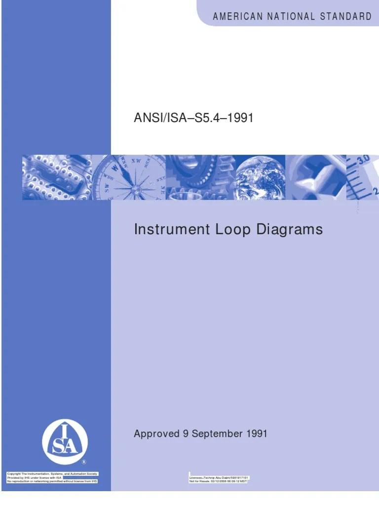 ISA 5 4 Instrument Loop Diagrams Instrumentation Standardization