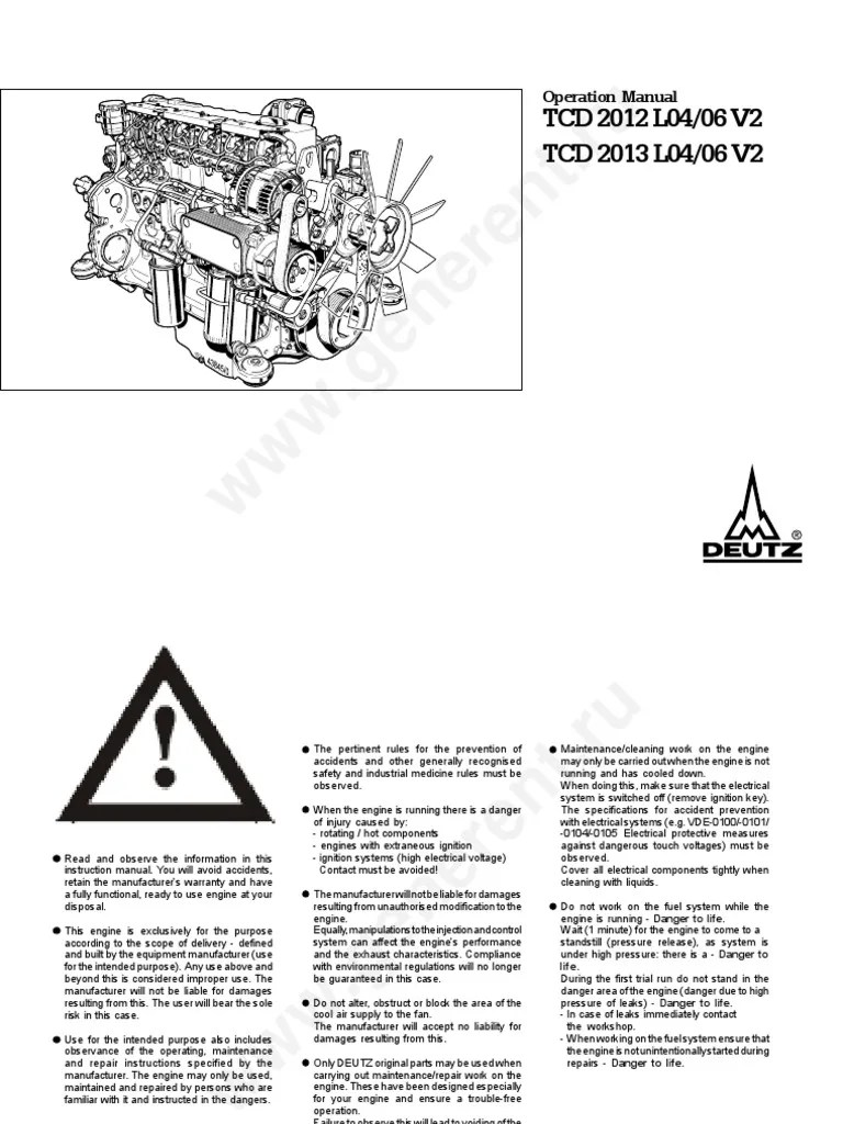 oil cooled deutz wiring diagram [ 768 x 1024 Pixel ]