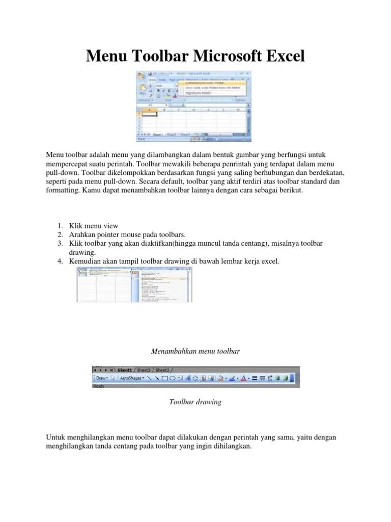 Pengertian Toolbar Standar : pengertian, toolbar, standar, Toolbar, Microsoft, Excel