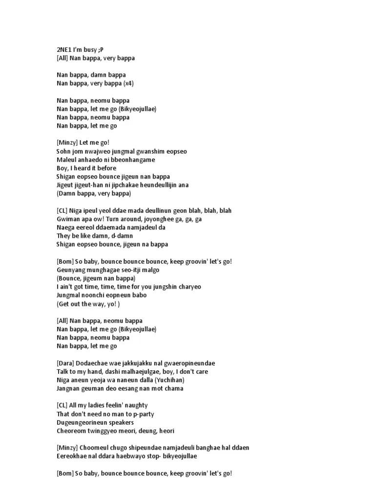 Lirik Lagu Lonely 2ne1 : lirik, lonely, Lyrics.docx, Artists