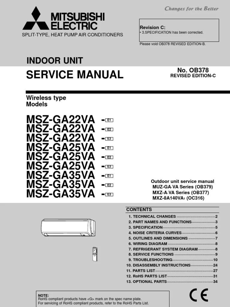 medium resolution of mitsubishi electric service manual 0b378 power supply antenna mitsubishi galant wiring diagram mitsubishi msz wiring diagram