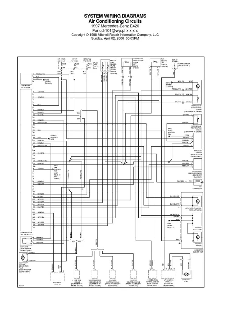 94 E420 Mercedes Benz Wiring Diagram - Wiring Diagram K10 Radio Wiring Diagram For Mercedes E on