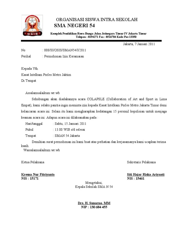 Contoh Surat Izin Keramaian Rt Rw : contoh, surat, keramaian, Contoh, Surat, Permohonan, Keramaian