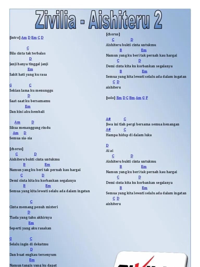 Chord Zivilia Aishiteru 2 : chord, zivilia, aishiteru, Chord, Zivilia, Aishiteru