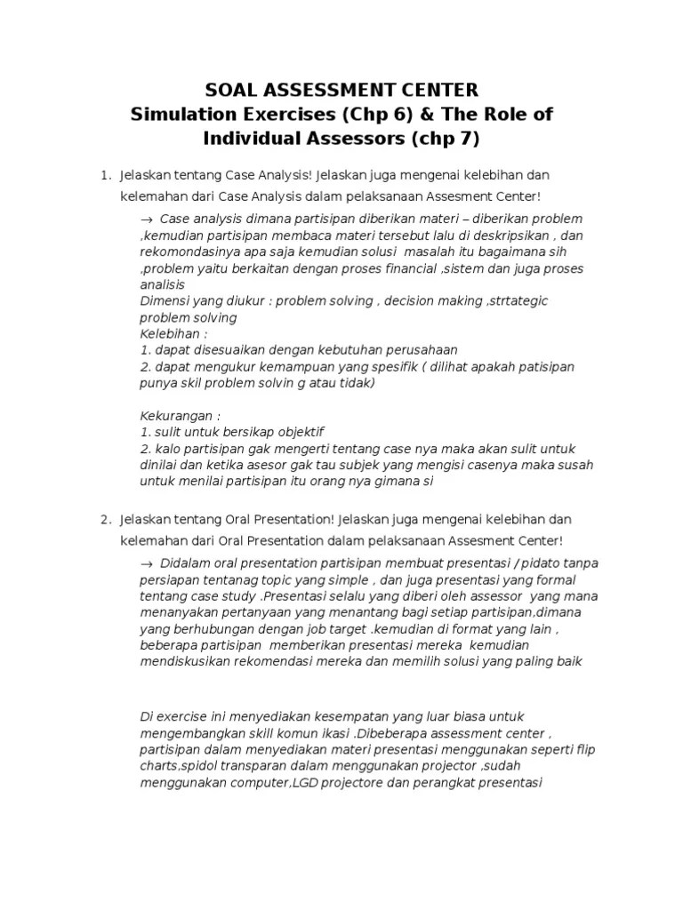 Contoh Soal Assessment Test Manager : contoh, assessment, manager, Contoh, Assessment, Manager, Gambarse