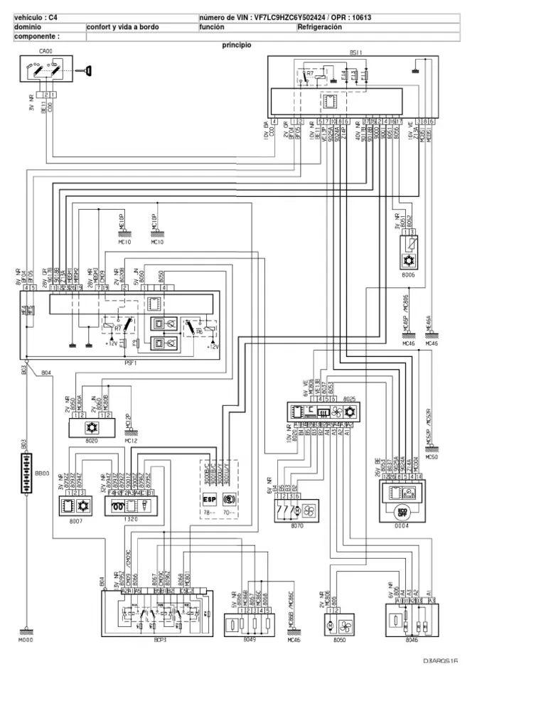 citroen diagrama de cableado estructurado y