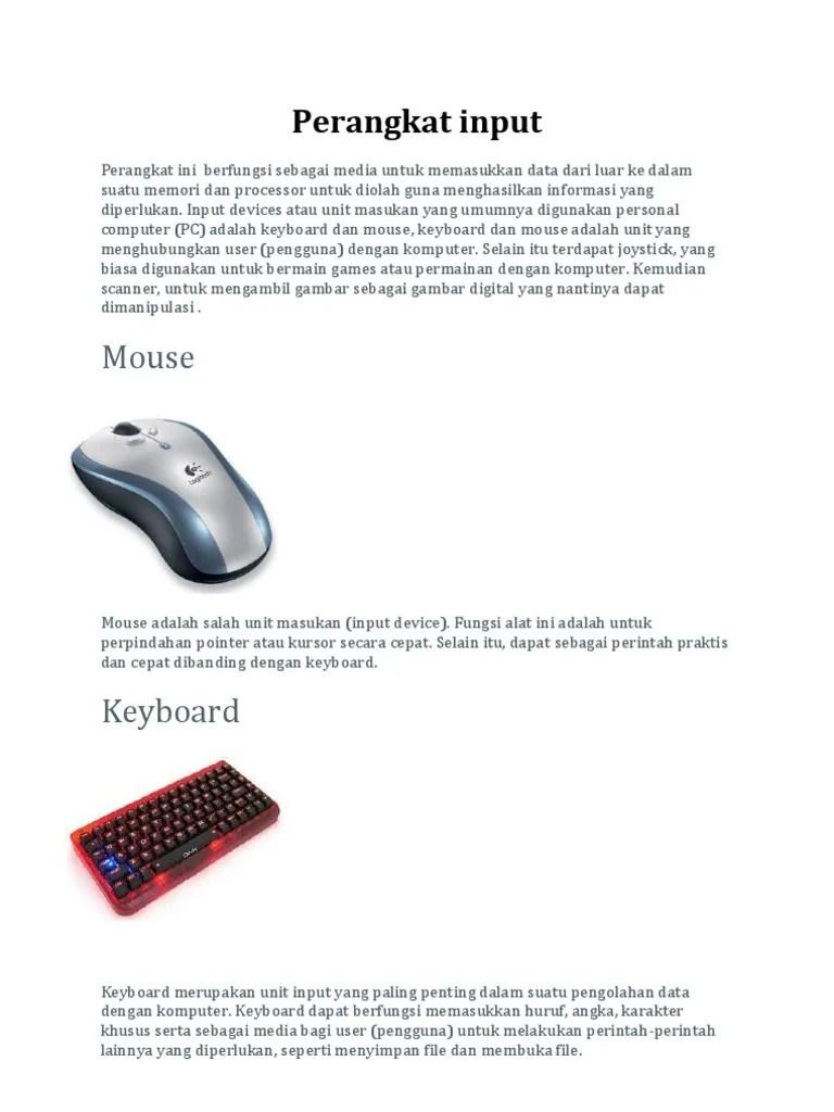 Peralatan Input Yang Digunakan Untuk Bermain Game Adalah : peralatan, input, digunakan, untuk, bermain, adalah, Mouse:, Perangkat, Input