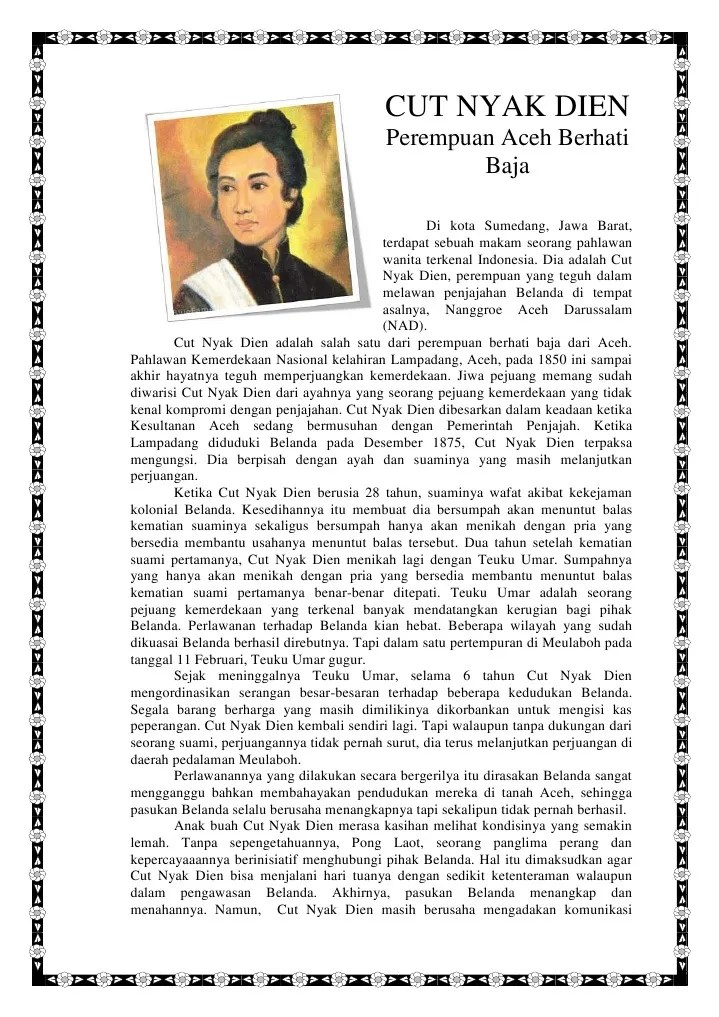 Biografi Pahlawan Cut Nyak Dien : biografi, pahlawan, Biografi, Tokoh