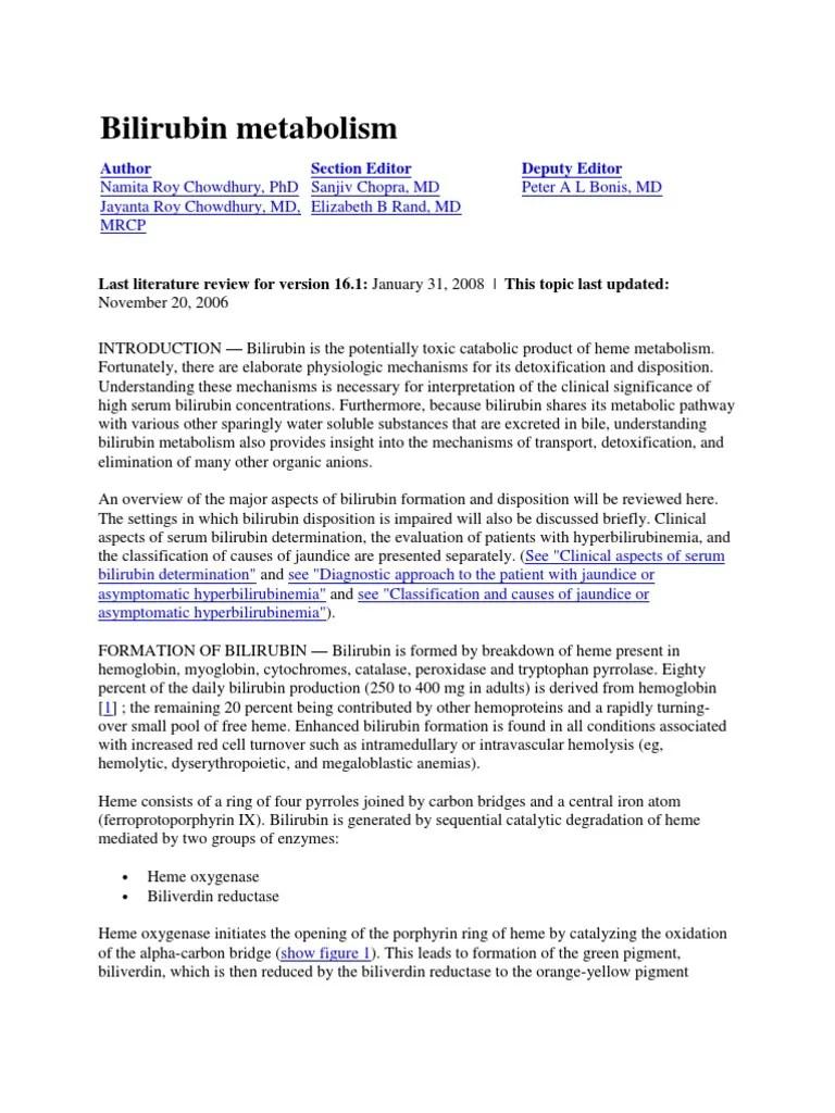 Bilirubin Metabolism   Drug Metabolism   Medical Specialties   Free 30-day Trial   Scribd