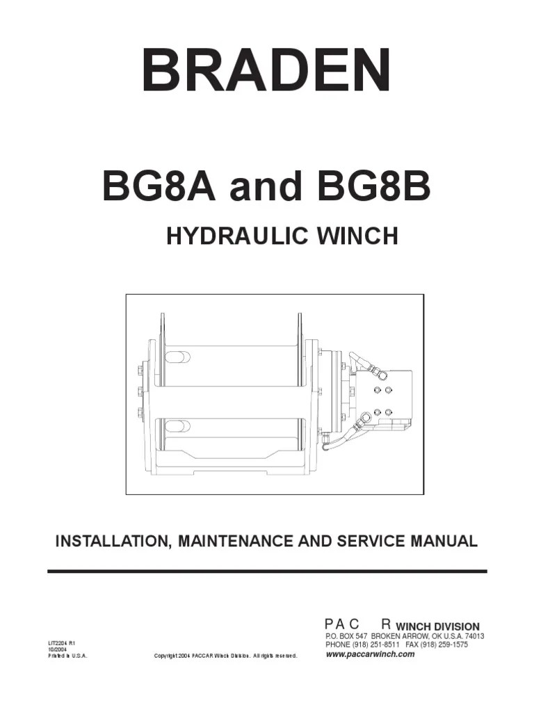 small resolution of braden electric winch wiring diagram braden bg8a bg8b installation mainenance and service manual brake