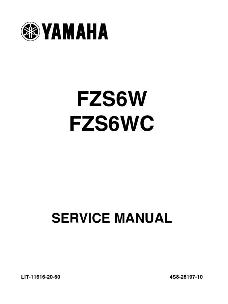 Yamaha Fazer FZ6 S2 2007 Service Manual ENG