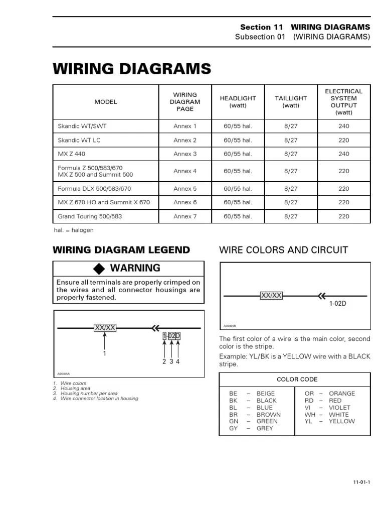 medium resolution of bombardier skidoo 1998 99 electric wiring diagram direct current 2012 ski doo elan bombardier skidoo