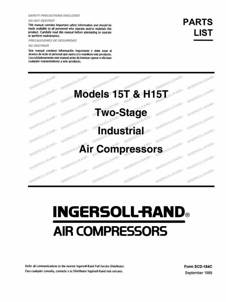 hight resolution of ingersoll rand t30 part diagram