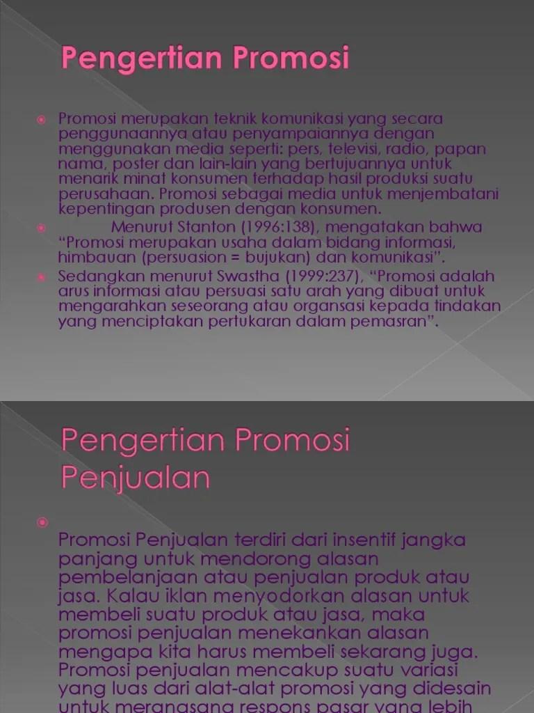 Alat Alat Promosi Penjualan : promosi, penjualan, Promosi, Penjualan