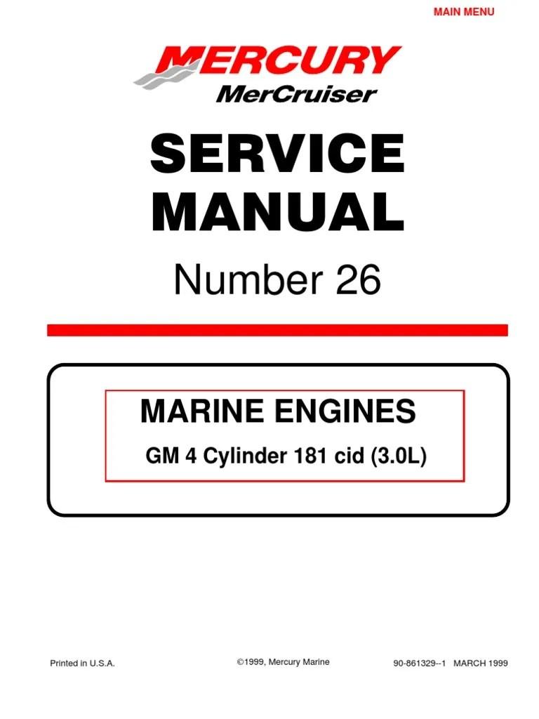 medium resolution of mercruiser 4 cyl 3 0 service manual gasoline internal combustion 3 liter mercruiser engine diagram