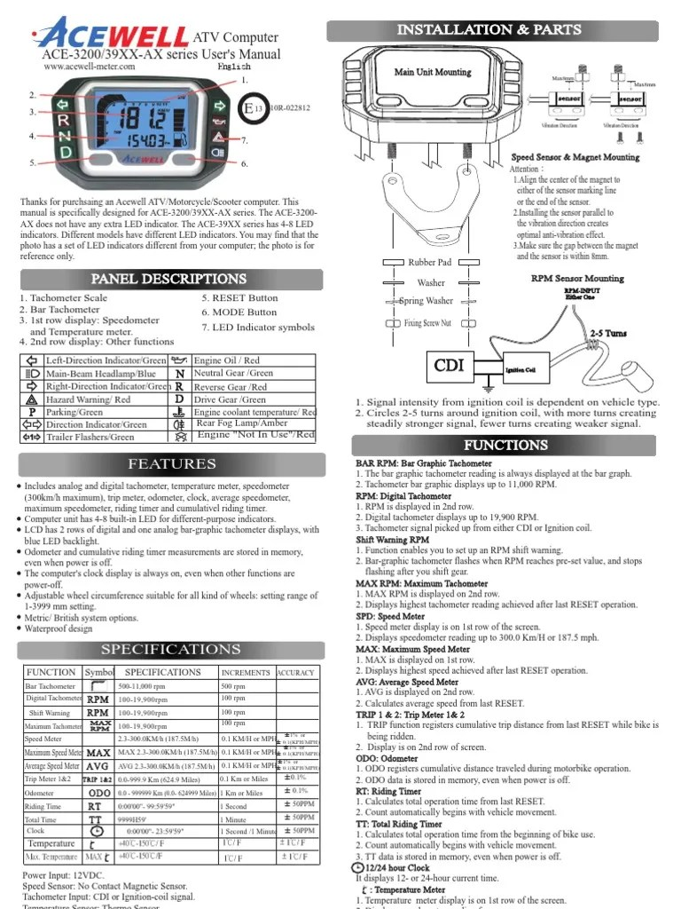 3904 auto meter tachometer wiring diagram [ 768 x 1024 Pixel ]