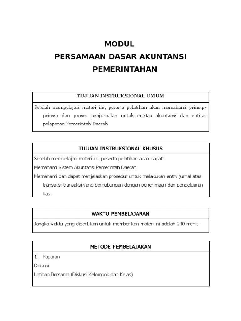 Tuliskan Persamaan Dasar Akuntansi : tuliskan, persamaan, dasar, akuntansi, Persamaan, Dasar, Akuntansi, Pemerintahan