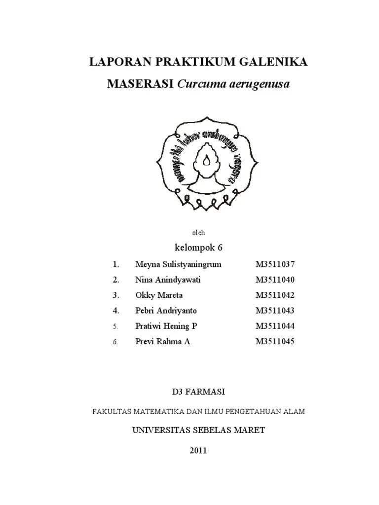 Laporan Praktikum Maserasi : laporan, praktikum, maserasi, LAPORAN, MASERASI