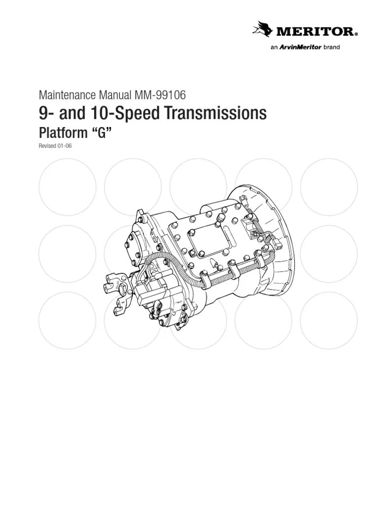 hight resolution of transmisi n meritor 9 y10 velocidades mm99106 clutch manual transmission