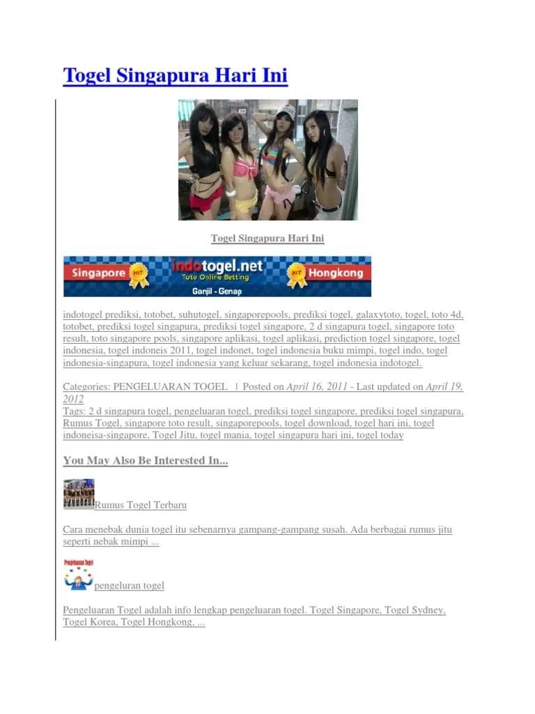 Situs Keluaran Togel, Keluaran HK, Keluaran SGP, Keluaran