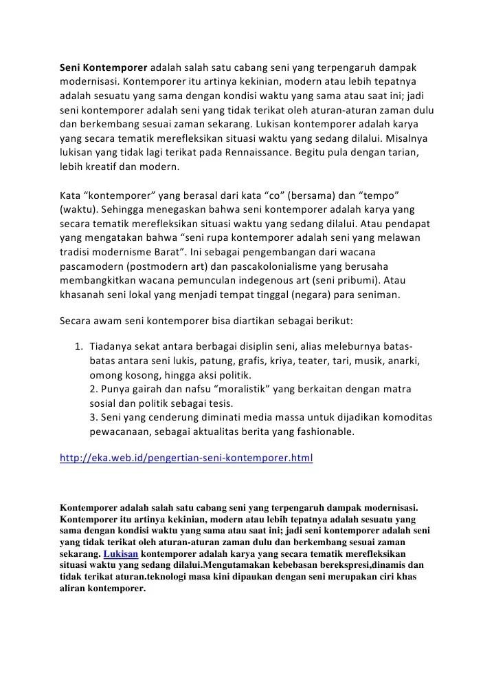 Pengertian Teater Kontemporer : pengertian, teater, kontemporer, Kontemporer, Adalah, Salah, Cabang, Terpengaruh, Dampak