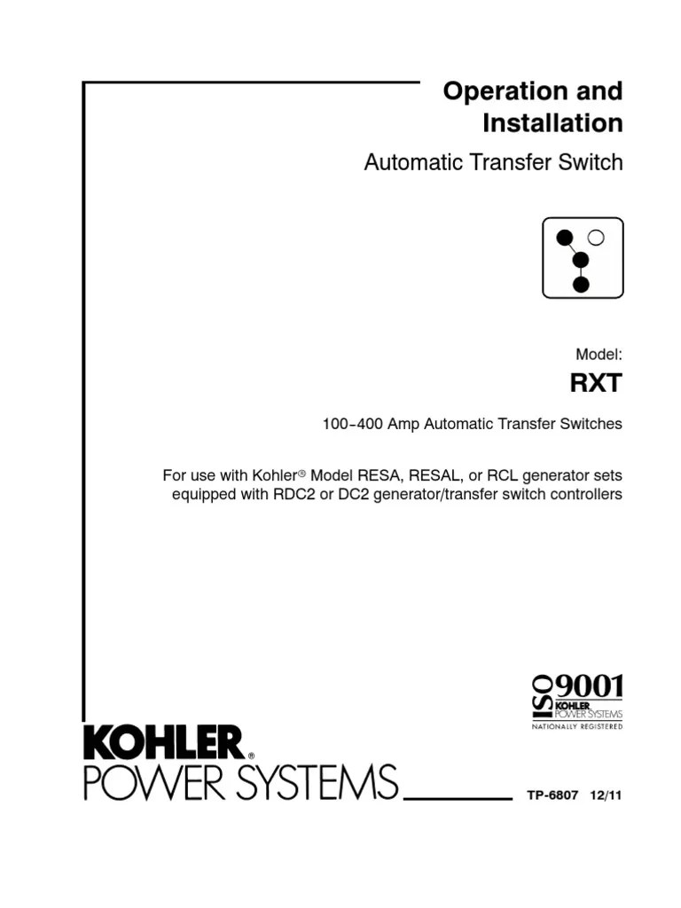 medium resolution of kohler automatic transfer switch schematic