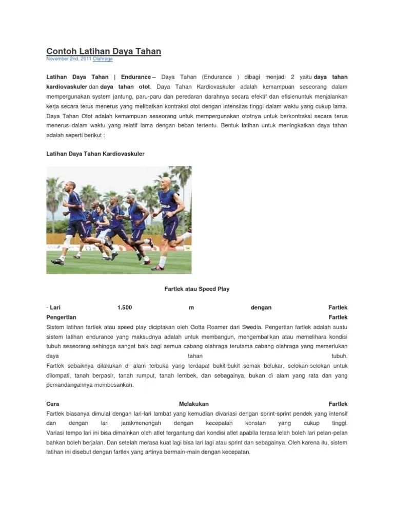 Latihan Daya Tahan Dapat Dilakukan Dengan : latihan, tahan, dapat, dilakukan, dengan, Contoh, Latihan, Tahan