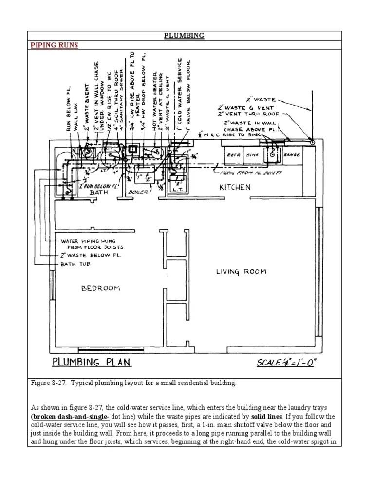 hight resolution of waste plumbing diagram