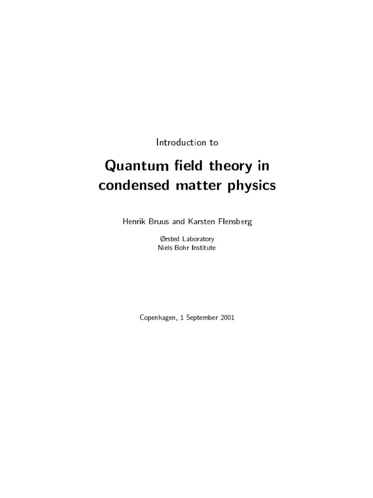 feynman diagram techniques in condensed matter physics heat pump air handler introduction to quantum field theory mechanics wave function