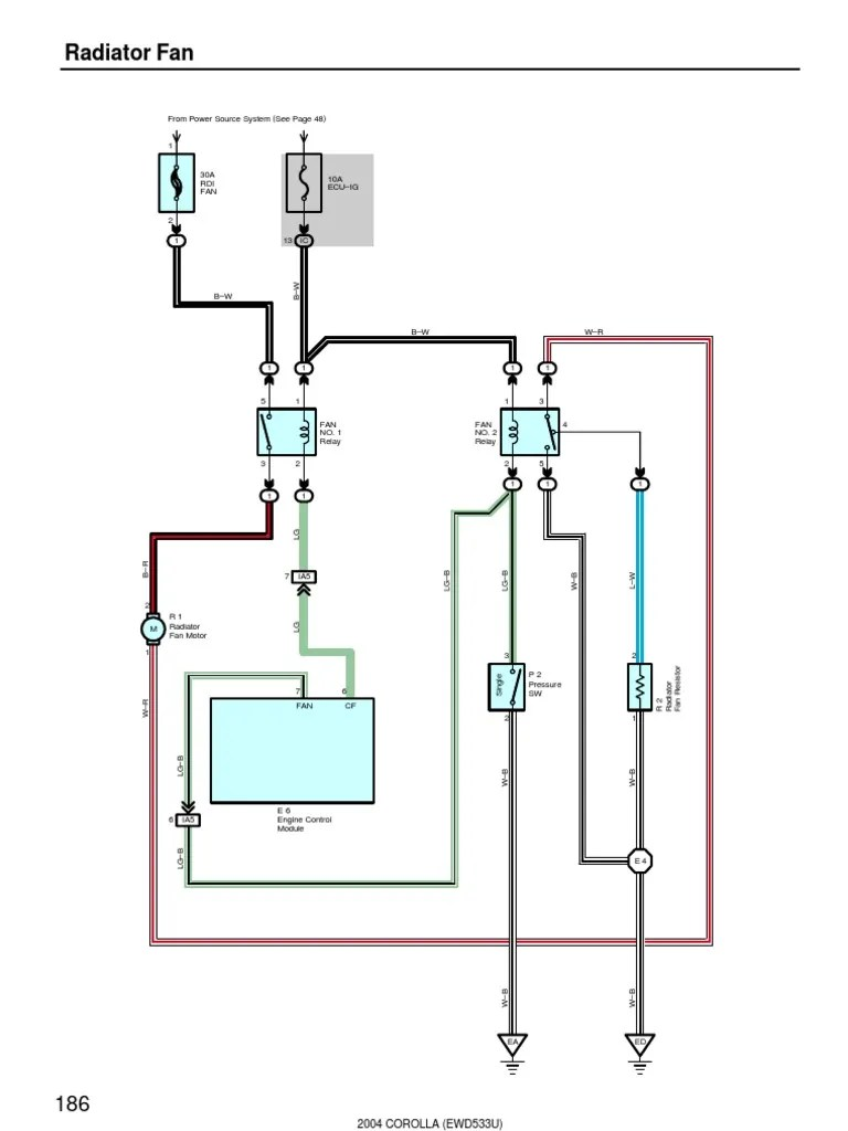automotive cooling fan wiring diagram [ 768 x 1024 Pixel ]