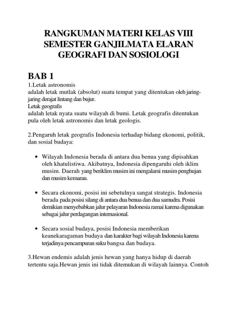 Materi Ips Kelas 8 Semester 2 Kurikulum 2013 : materi, kelas, semester, kurikulum, RANGKUMAN, KELAS, 8,SEMESTER, 1,BAB, 1,2,3,4