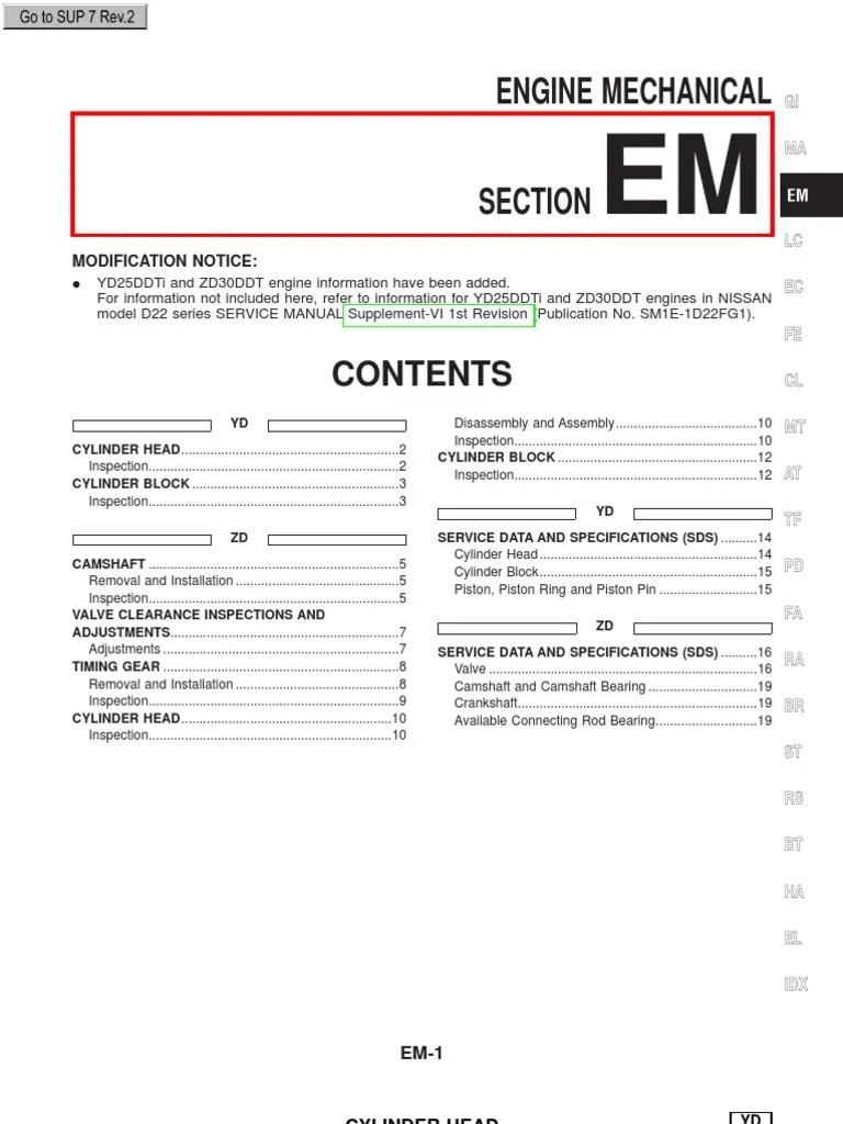 yd25ddti and zd30ddt engines in nissan repair manuals cylinder engine piston [ 768 x 1024 Pixel ]