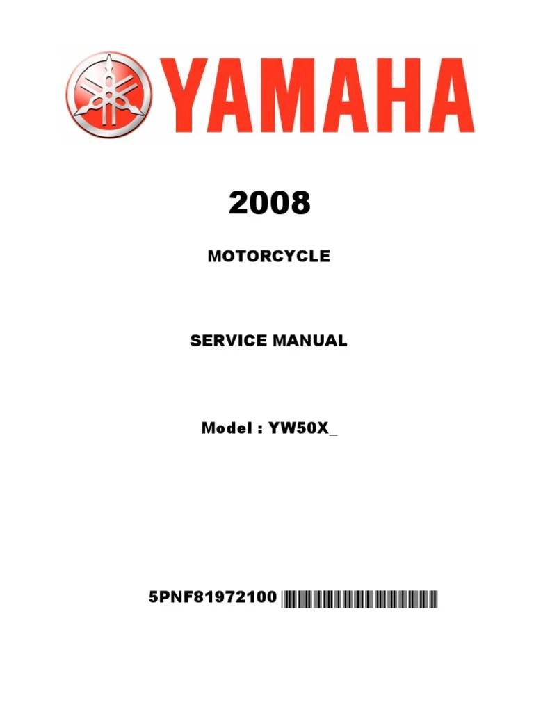 yamaha zuma scooter repair and maintenance manual screw nut hardware  [ 768 x 1024 Pixel ]