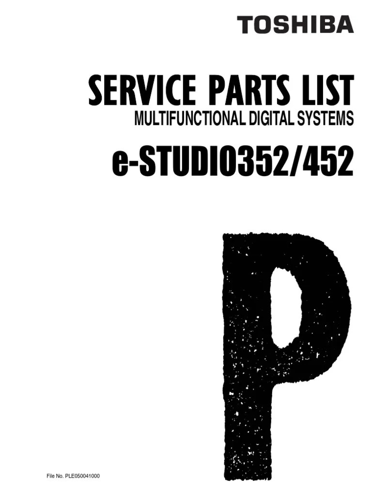 Toshiba estudio 352/452 Parts List