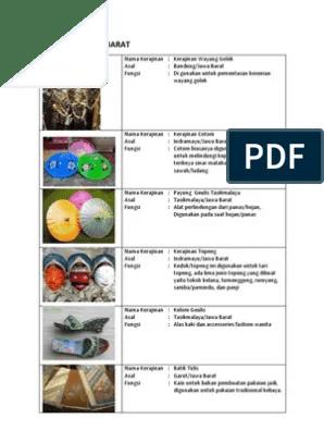 Kerajinan Nusantara Dan Asal Daerahnya : kerajinan, nusantara, daerahnya, Kerajinan, Barat