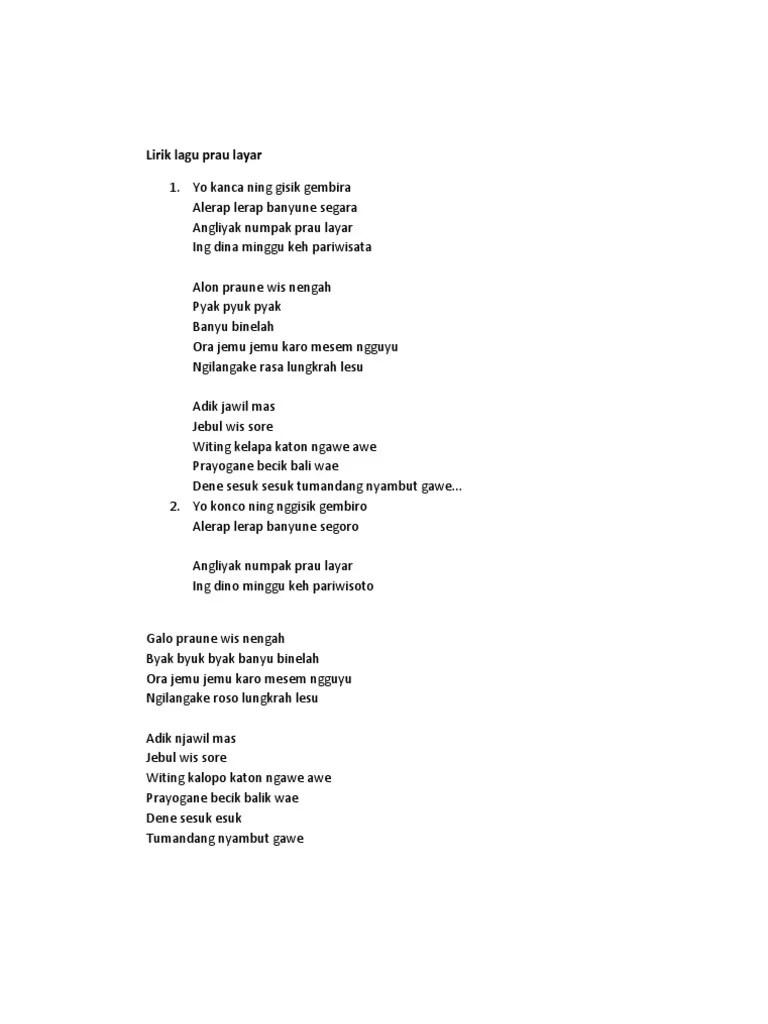 Lirik lagu perahu layar dan artin Maknanya - terjemahan lagu