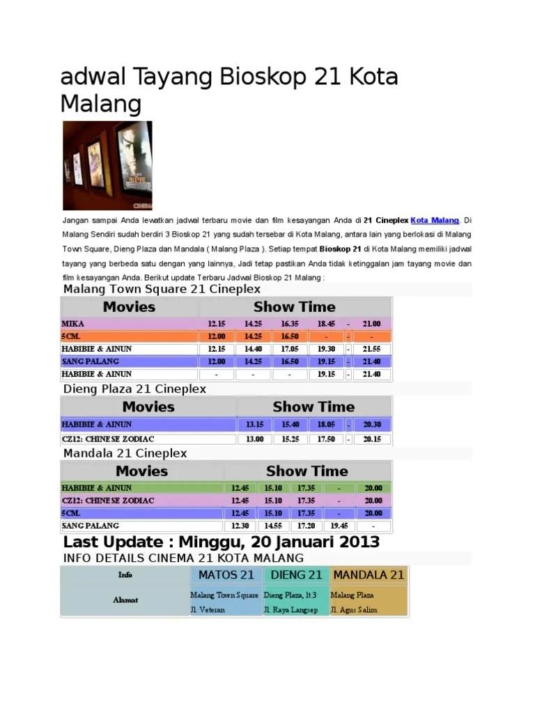 Jadwal Bioskop Matos : jadwal, bioskop, matos, Jadwal, Tayang, Bioskop, Malang