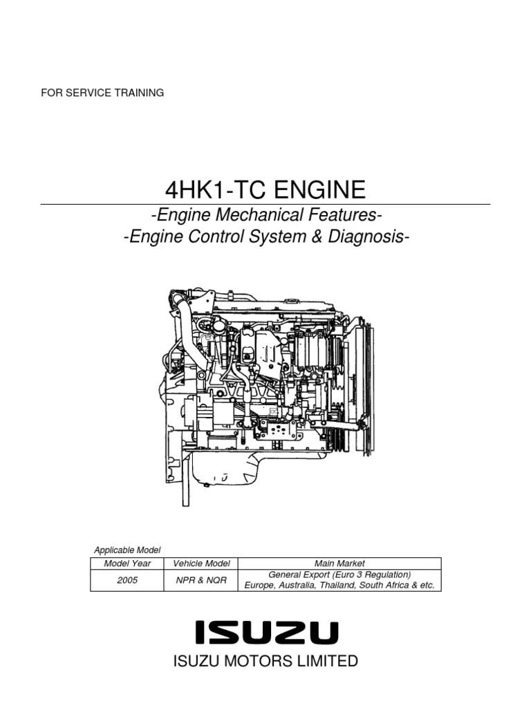 medium resolution of npr manual y diagrama motor isuzu 729 4hk1 training pdf internal combustion engine turbocharger