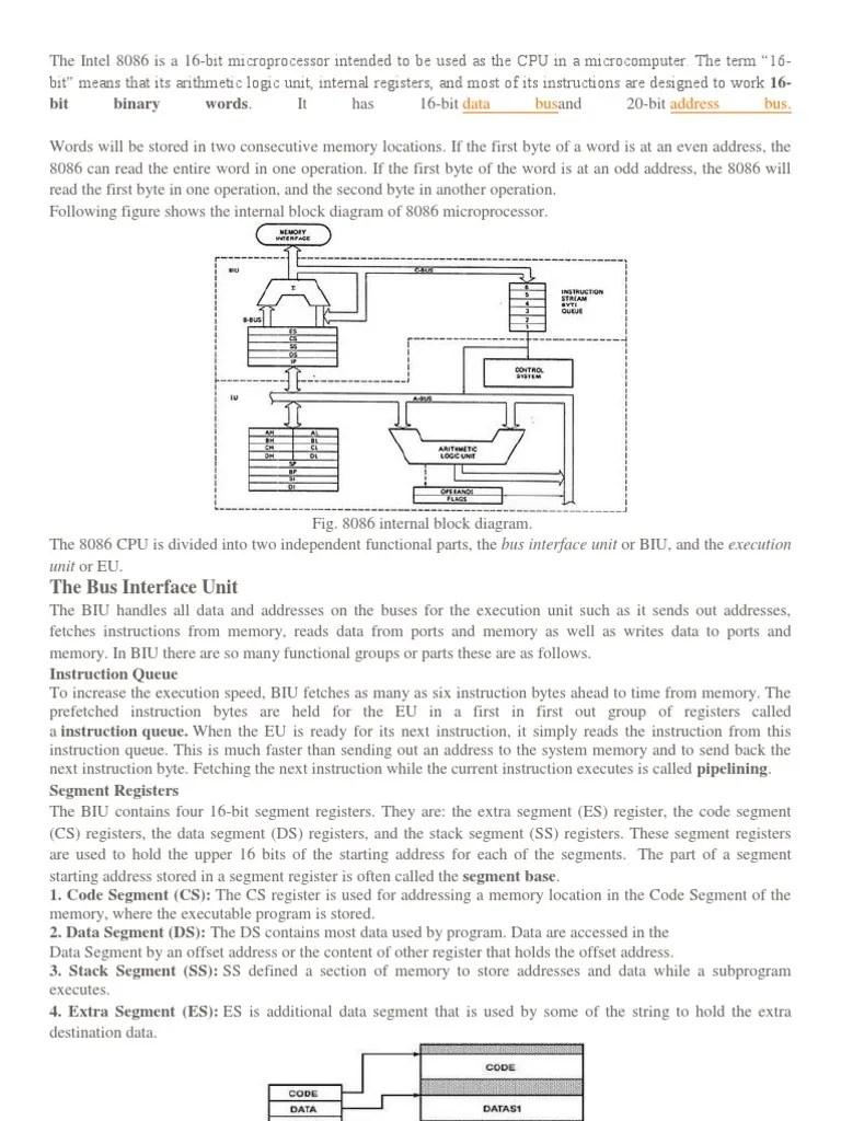 medium resolution of block diagram 8086