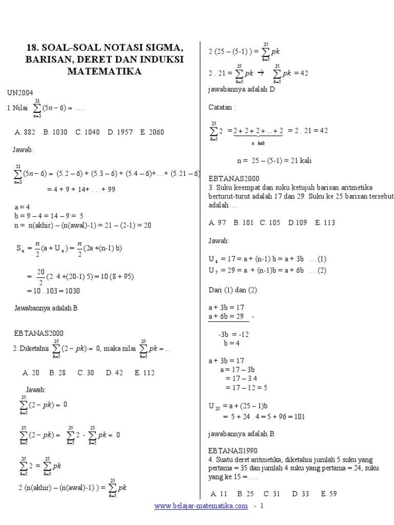 Contoh Soal Induksi Matematika Kelas 11 Beserta Jawabannya : contoh, induksi, matematika, kelas, beserta, jawabannya, Contoh, Jawaban, Induksi, Matematika, Berbagai, Cute766