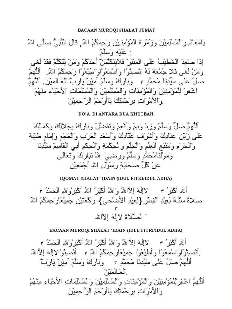 Bilal Sholat Idul Fitri : bilal, sholat, fitri, Bacaan, Muroqi, Shalat, Jumat