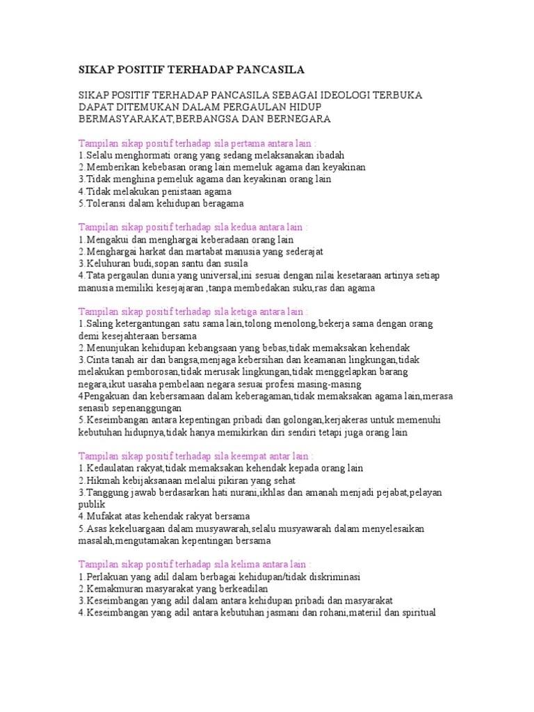 Sikap Positif Terhadap Pancasila : sikap, positif, terhadap, pancasila, Sikap, Positif, Terhadap, Pancasila