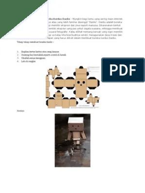 Cara Membuat Boneka Danbo : membuat, boneka, danbo, Mudah, Membuat, Boneka, Kardus, Danbo