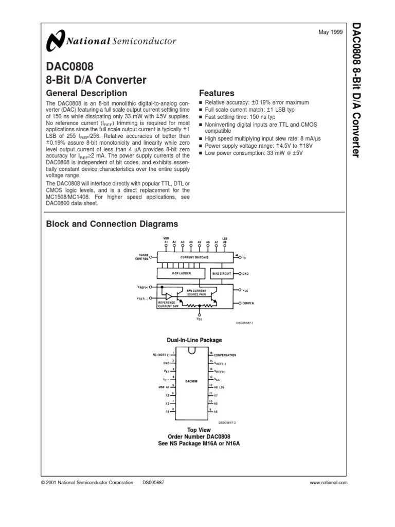 hight resolution of dac0808 1 amplifier capacitor